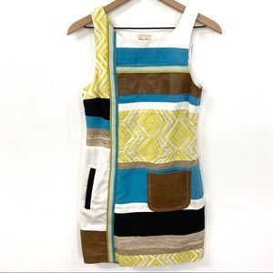 Tracy Reese Boho Fabric + Leather Patchwork Dress